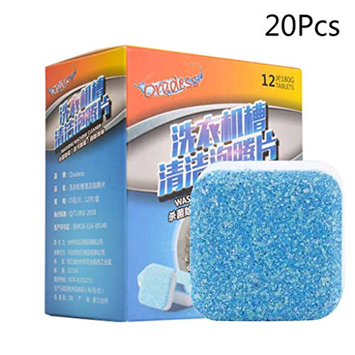 KINTRADE 20 Stück Nützliche Waschmaschine Entkalker Reiniger Tiefenreinigung Entferner Tabletten Deodorant Langlebig Multifunktionale Wäschebedarf