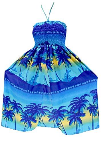 encubrir-tubo-corto-maxi-cuello-cabestro-vestido-por-encima-de-la-rodilla-ropa-de-playa-del-traje-de-bao-traje-de-bao-azul