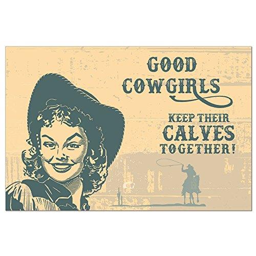 Tree-Free Greetings EcoNotes Grußkarten mit Umschlägen, 12 Stück Cowgirl Calves