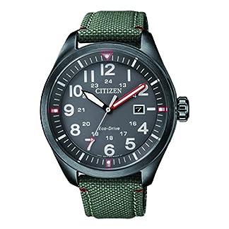 CITIZEN Reloj Analógico para Hombre de Cuarzo con Correa en Tela AW5005-39H