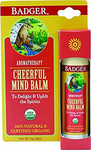 Badger CHEERFUL MIND BALM Certified Organic Sweet Orange & Spearmint