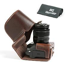 """MegaGear """"Ever Ready"""" en Cuir pour, Ouverture du bas Housse pour Fujifilm X-T2 avec 18-55mm Lentille"""