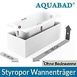AQUABAD® Universal Badewannenträger (für Villeroy & Boch, Bette, Ideal Standard uvm.) Wannenträger Styroporträger Badewanne 180 x 80 x 56 cm