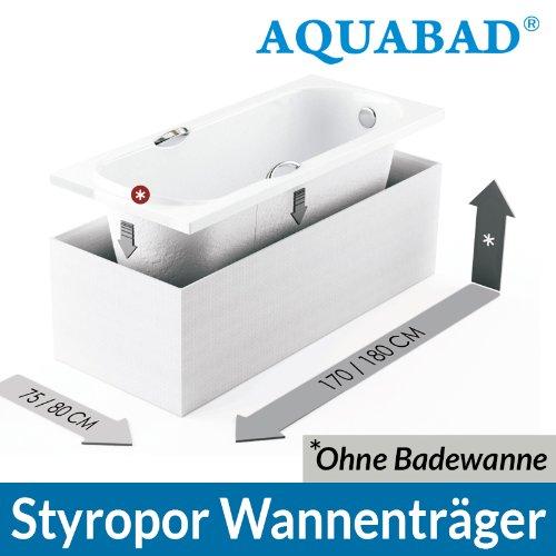 AQUABAD® Universal Badewannenträger (für Villeroy & Boch, Bette, Ideal Standard uvm.) Wannenträger Styroporträger Badewanne 170 x 75 x 56 cm