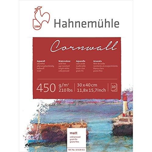 Aquarellblock Cornwall matt 450g/m², 30x40cm, 10Blatt