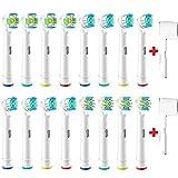 Ersatzbürsten Aufsteckbürsten 16 Stücke Kompatibel mit Braun Oral B Zahnbürsten 3D White EB18 Cross Action EB50 Clean EB20 Zahnbürstenköpfe Tiefen-reinigung Zahnbürstenaufsätze für Weißere Zähne