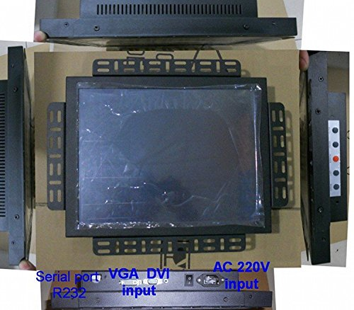 Gowe Resistiver 38,1cm 4: 3Touch Screen Monitor für Industrie-PC Serial Port/R232Control Touch Display Serial Port Control