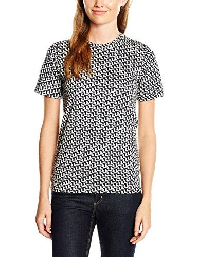 Orla Kiely Classic, T-Shirt Femme Beige - Beige (Oat)