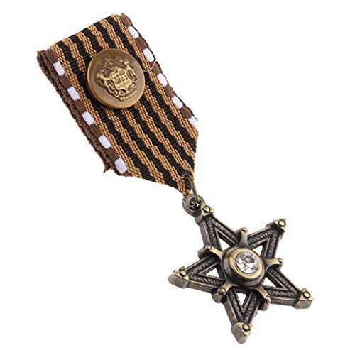ren Sterne Medaille Abzeichen Kleidung Mode Kostüm Marine Brosche (Marines Kostüme)