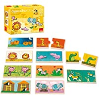 Goula 10 puzzles de 2 piezas de madera con animales de la selva