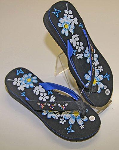 Infradito sandali infradito tacco compensato donna pierre-cedric Blu