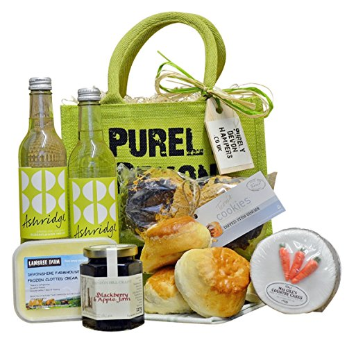 Purely Devon Hampers - Afternoon Tea in the Country (green) Mother's Day Gift