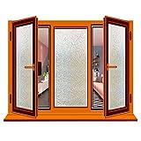 RH Art RH Fensterfolie 3D Selbsthaftend Ohne Kleber Privatsphäre Anti-UV Kein Geruch Sicherheit Mosaik, 44 x 200cm (Mosaik, 44 x 200cm) …