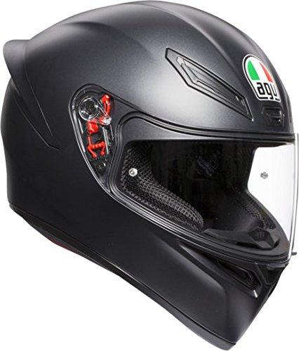 AGV K1 abierto E2205 Solid Casco de moto, ML, Negro Mate