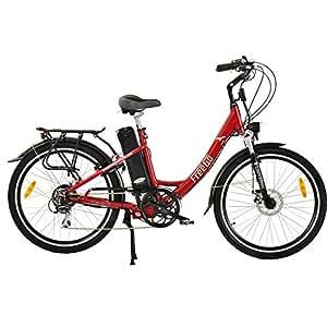 freego hawk step through electric bike red 16ah. Black Bedroom Furniture Sets. Home Design Ideas