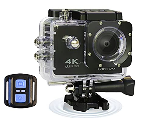 Sports Action Camera Ultra HD WiFi Underwater Camera Waterproof 30M Digital Video Camcorder 1080P 4K DV Sport Camera 170° Wide Angle Lens with Remote