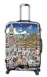 Koffer, Reisegepäck, Trolley by Heys - Premium Designer Hartschalen Koffer - Künstler Fazzino Venezia Koffer mit 4 Rollen Medium
