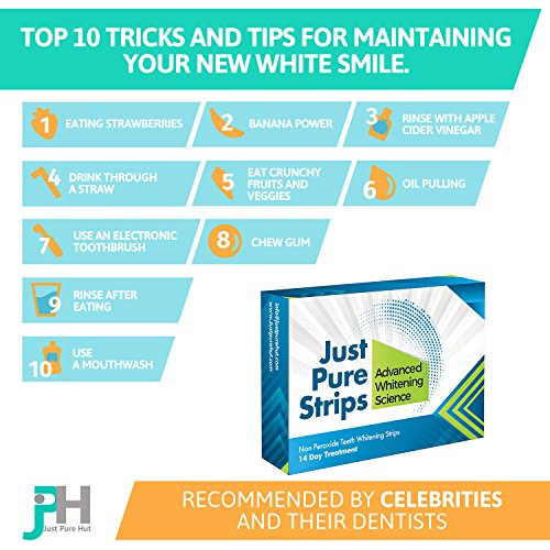 Dentist Teeth Whitening Strips – Best Advanced Professional At Home Whitener Kit – Pack of 28 (14 day Course) – Zero Peroxide Gel Products – No Powder Trays Pen Light or Toothpaste – Bleach Free