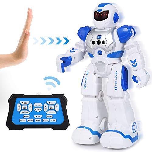 SGILE Ferngesteuerter Roboter Spielzeug für Kinder, Intelligent Programmierbar RC Roboter mit Gestensteuerung, LED Licht und Musik, RC Spielzeug für Kinder Jungen Mädchen Geschenk