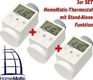 homematic funk heizkoerperthermostat 3er set baumarkt. Black Bedroom Furniture Sets. Home Design Ideas