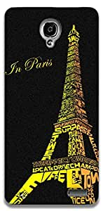 The Racoon Lean Love in Paris hard plastic printed back case / cover for Alcatel Onetouch Idol X 6040D