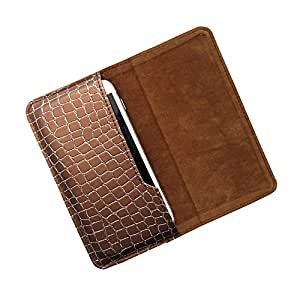 i-KitPit : PU Leather Flip Pouch Case For LG Optimus L5II Dual (E455) / L5II ((E450) (BROWN)