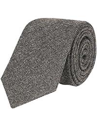 Tiekart men grey plain solids woollen tie