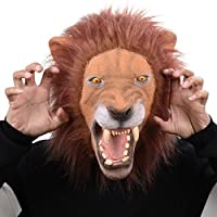 Party Story Novelty King Lion Latex Head Mask Costume Animal Mask Rubber mask