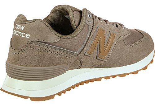 New Balance Damen WL574-CLM-B Sneaker, Braun, 36 EU