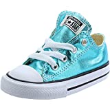 Converse Chuck Taylor All Star Metallic Ox Fresh Cyan Textile Baby Trainers