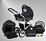 True Love Larmax Kinderwagen Komplettset (Autositz & Adapter, Regenschutz, Moskitonetz, Schwenkräder)