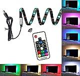 30 LED-Fernsehlicht-Gurt, Fernsteuerungs-LED-Streifen-Licht, 1M-Vorspannungs-Beleuchtung mit USB trieb an, dekorative Licht-Streifen für Fernsehbildschirm-Schreibtisch