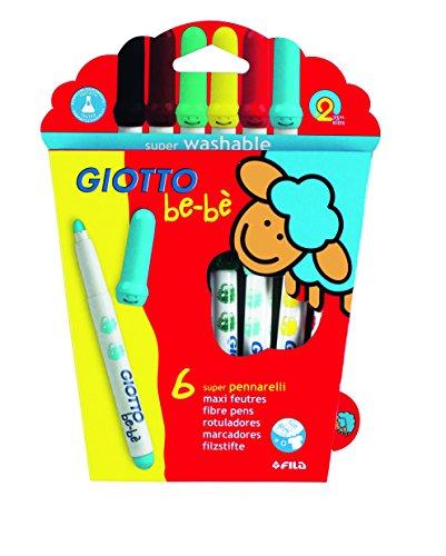 Giotto Be-Be Multicolore stylo-feutre - stylos-feutres (Multicolore, 5 mm, Multicolore, Encre à base d'eau)