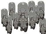 20 x Glassockellampe 12V 5W W2 1x9 5d W5W KFZ Kennzeichen Leuchte Außen Lampe Auto Glühbirne Glassockel Glas Sockel