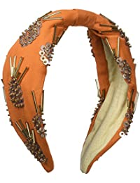 Intropia P950TOC06515105, Pañuelo para la Cabeza para Mujer, Naranja (Azafrán 105), Medium (Tamaño del Fabricante:M)