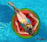 Oficiales 'Piscinas' Perfect Inflable Gigante Anillo de Goma de sandía | Flotador de la Piscina 110cm