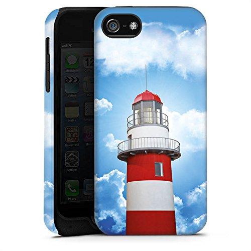 Apple iPhone 6 Tasche Hülle Flip Case Leuchtturm Himmel Wolken Tough Case matt
