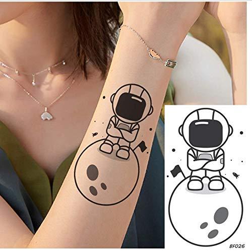 ruofengpuzi Gefälschte Cartoon Spaceman Roboter Erde Tattoo Für Kinder Kinderarme DIY Aufkleber Wasserdicht Weiblich Temporäre Tattoo Benutzerdefinierte
