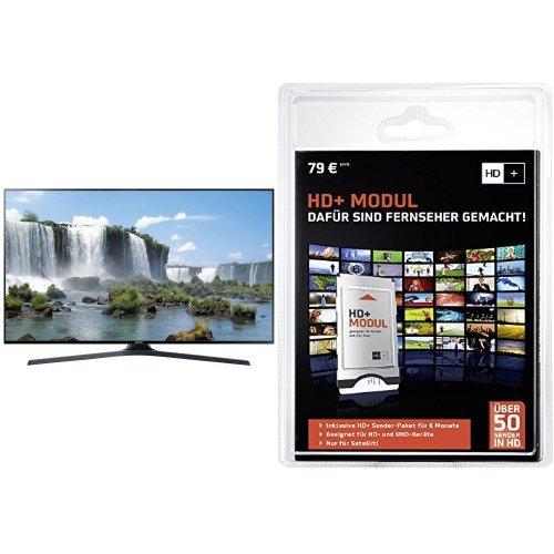 Samsung UE60J6250 152 cm (60 Zoll) Fernseher (Full HD, Triple Tuner, Smart TV)+ HD PLUS CI+ Modul für 6 Monate (inkl. HD+ Karte, optimal geeignet für UHD, nur für Satellitenempfang) Bundle