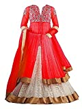 #8: SKY WORLD Girl's Georgette and Net Embroidered Lehenga Choli (8-14 Yrs) (World_541)