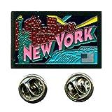 Grüsse aus New York Amerika USA Bundesstaaten Badge Button Pin Anstecker 0621