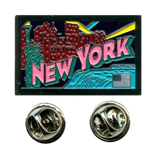 Grüße aus New York Amerika USA Bundesstaaten Badge Button Pin Anstecker 0621