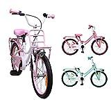AMIGO - Magic - Bicicletta Bambini - 20'' (per 5-9 Anni) - Bianco/Rosa