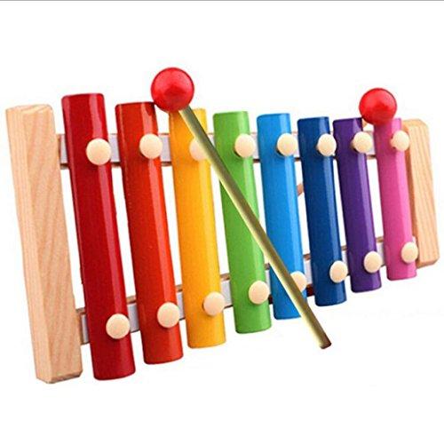 Kleinkindspielzeug Longra Kinder Baby Spielzeug Xylophon Weisheit Entwicklung hölzerne Musikinstrument verbessern Kind empfindlich auf Farben Klänge