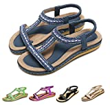 Gracosy Sandales Femmes Plates, Chaussures Été Nu Pieds à Talons Plats Claquettes...