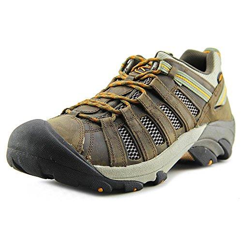 Keen Voyageur Cuir Chaussure de Randonnée Black Olive-Inca Gold