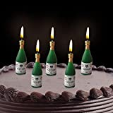 PARTY PROPZ BIRTHDAY CHAMPAGNE CANDLE/ BIRTHDAY CANDLE/ ANNIVERSARY CANDLE/ BIRTHDAY DECORATION