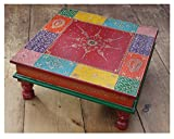 Klassisches Indisches handbemalte Holz Bajot Tisch