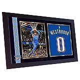 SGH SERVICES Neuf encadrée Russell Westbrook Oklahomathunder NBA dédicacée Souvenir de Basket-Ball NBA Photo dédicacée encadrée MDF Cadre Photo Print # 4