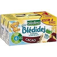 Blédina blédidej brique de lait et céréales saveur cacao 4x250ml dès 6 mois Prix Unitaire - Envoi Rapide Et Soignée